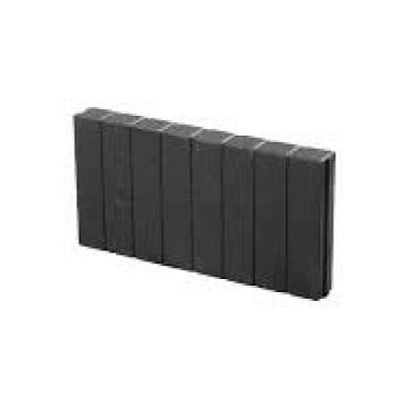 Mini Quadrobandpalissade 6x25x50 cm Zwart