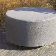 Oud hollandse zitelement rond 100x40 cm Grijs