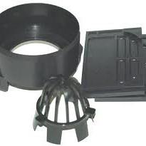ACOHexaline set eindplaten zwart,
