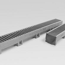 ACO Euroline element met onderuitloop L=1000mm, incl. vz.st. maat 100x9,7
