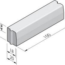 Trottoirband 18/20x25x100cm vb KOMO grijs