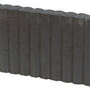 Rondobandpalissade 8x25x100 cm Zwart