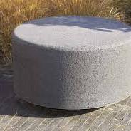 Oud hollandse zitelement rond 100x40 cm Carbon