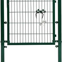 Poort compleet enkel groen 120x100
