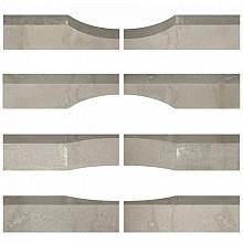 Linia Excellence Wave 15x15x60 cm Graniet grijs